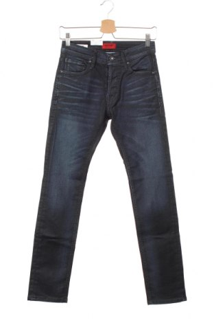 Мъжки дънки Jack & Jones, Размер XS, Цвят Син, 80% памук, 18% полиестер, 2% еластан, Цена 33,82лв.