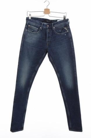 Мъжки дънки Replay, Размер S, Цвят Син, 99% памук, 1% еластан, Цена 59,57лв.