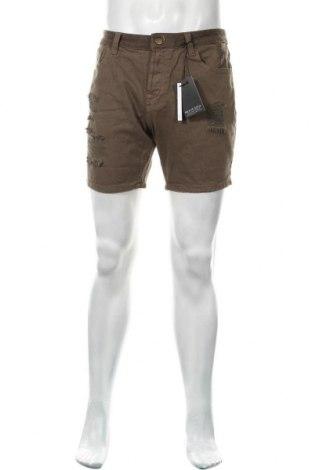 Мъжки къс панталон Brave Soul, Размер M, Цвят Зелен, Памук, Цена 16,59лв.