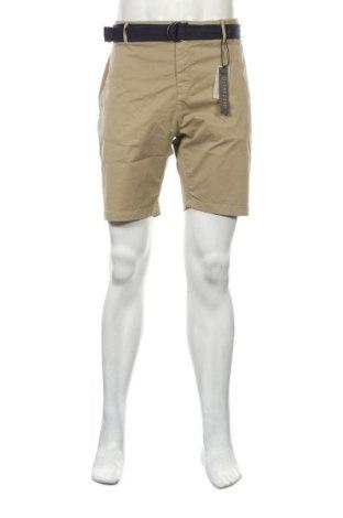 Мъжки къс панталон Dstrezzed, Размер XL, Цвят Бежов, 98% памук, 2% еластан, Цена 24,68лв.
