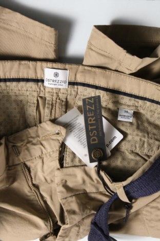 Мъжки къс панталон Dstrezzed, Размер S, Цвят Бежов, 98% памук, 2% еластан, Цена 24,68лв.