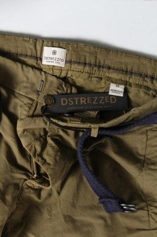 Мъжки къс панталон Dstrezzed, Размер S, Цвят Зелен, 98% памук, 2% еластан, Цена 35,97лв.