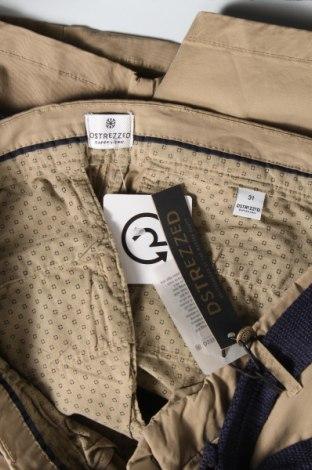Мъжки къс панталон Dstrezzed, Размер M, Цвят Бежов, 98% памук, 2% еластан, Цена 24,68лв.