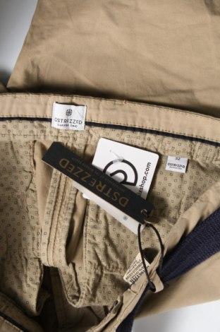 Мъжки къс панталон Dstrezzed, Размер M, Цвят Бежов, 98% памук, 2% еластан, Цена 35,97лв.