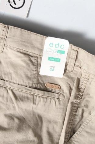 Мъжки къс панталон Edc By Esprit, Размер S, Цвят Бежов, Памук, Цена 18,90лв.