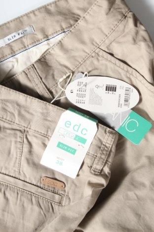 Мъжки къс панталон Edc By Esprit, Размер XL, Цвят Бежов, Памук, Цена 14,82лв.
