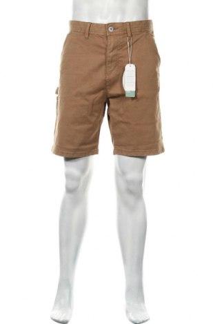 Мъжки къс панталон Edc By Esprit, Размер L, Цвят Бежов, 98% памук, 2% еластан, Цена 19,79лв.