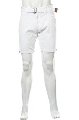 Мъжки къс панталон Indicode, Размер M, Цвят Бял, 98% памук, 2% еластан, Цена 24,01лв.