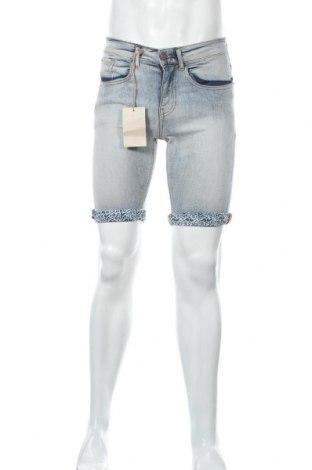 Мъжки къс панталон Mo, Размер S, Цвят Син, 83% памук, 16% полиестер, 1% еластан, Цена 13,48лв.