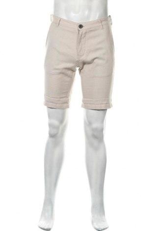 Мъжки къс панталон Selected Homme, Размер S, Цвят Бежов, 55% лен, 45% памук, Цена 16,56лв.