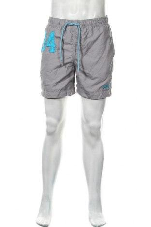 Мъжки къс панталон Superdry, Размер L, Цвят Сив, Полиестер, Цена 33,12лв.