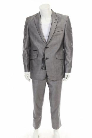 Ανδρικό κοστούμι Ricano, Μέγεθος L, Χρώμα Γκρί, Τιμή 20,32€