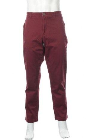 Мъжки панталон, Размер L, Цвят Червен, 97% памук, 3% еластан, Цена 27,28лв.