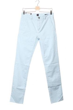 Pantaloni de bărbați Hugo Boss, Mărime S, Culoare Albastru, 97% bumbac, 3% elastan, Preț 223,03 Lei