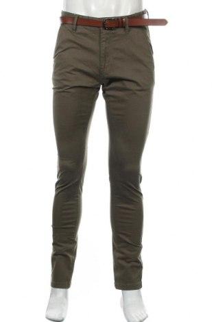 Pantaloni de bărbați Indicode, Mărime M, Culoare Verde, 98% bumbac, 2% elastan, Preț 64,97 Lei