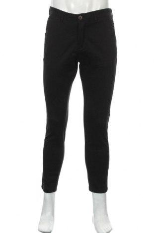 Ανδρικό παντελόνι Jack & Jones, Μέγεθος M, Χρώμα Μαύρο, 98% βαμβάκι, 2% ελαστάνη, Τιμή 11,47€