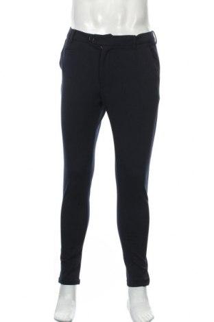 Pantaloni de bărbați Les Deux, Mărime M, Culoare Albastru, 63% poliester, 32% viscoză, 5% elastan, Preț 114,31 Lei