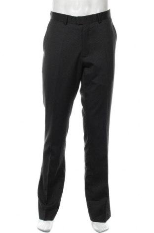 Мъжки панталон Marcus, Размер L, Цвят Черен, 51% полиестер, 46% вискоза, 3% еластан, Цена 6,86лв.