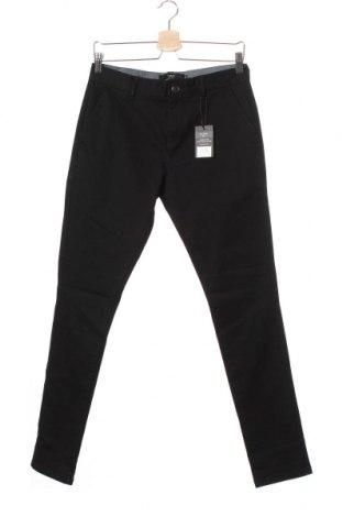 Ανδρικό παντελόνι Next, Μέγεθος S, Χρώμα Μαύρο, 98% βαμβάκι, 2% ελαστάνη, Τιμή 10,32€