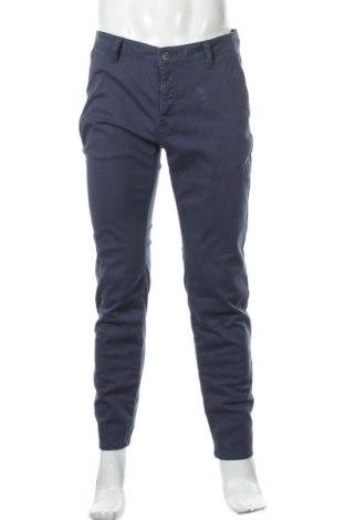 Мъжки панталон Pier One, Размер M, Цвят Син, 98% памук, 2% еластан, Цена 19,04лв.