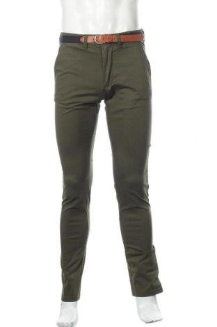 Мъжки панталон Selected Homme, Размер M, Цвят Зелен, 98% памук, 2% еластан, Цена 24,03лв.