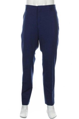 Pantaloni de bărbați Selected Homme, Mărime XXL, Culoare Albastru, 53% poliester, 43% lână, 4% elastan, Preț 293,59 Lei