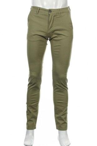 Мъжки панталон Selected Homme, Размер S, Цвят Зелен, 98% памук, 2% еластан, Цена 26,73лв.