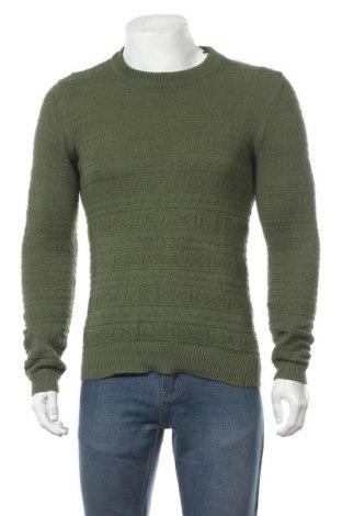 Мъжки пуловер Anerkjendt, Размер S, Цвят Зелен, Памук, Цена 22,32лв.