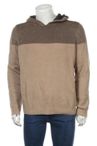 Мъжки пуловер Express, Размер L, Цвят Бежов, 60% памук, 40% акрил, Цена 30,87лв.