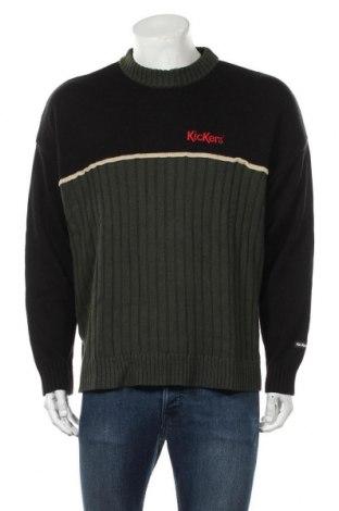 Мъжки пуловер Kickers, Размер L, Цвят Зелен, 85% акрил, 15% вълна, Цена 44,85лв.