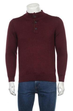 Ανδρικό πουλόβερ Mo Casual, Μέγεθος S, Χρώμα Κόκκινο, 50%ακρυλικό, 50% βαμβάκι, Τιμή 10,67€
