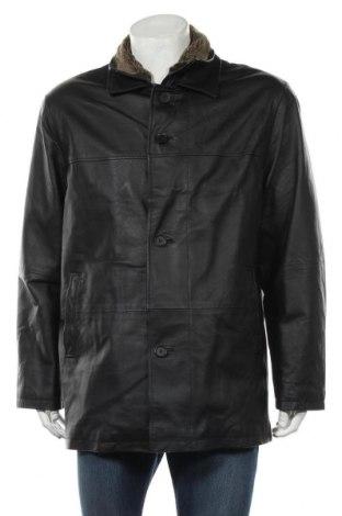 Мъжко кожено яке Man's World, Размер M, Цвят Черен, Естествена кожа, Цена 16,20лв.
