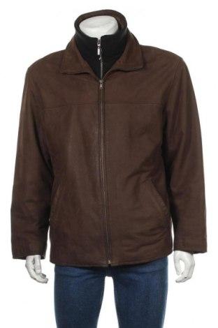 Мъжко кожено яке Pierre Cardin, Размер L, Цвят Кафяв, Естествена кожа, Цена 66,89лв.