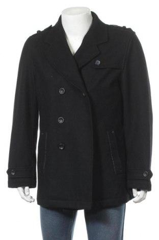 Мъжко палто Casa Blanca, Размер L, Цвят Черен, 60% вълна, 30% полиестер, 10% вискоза, Цена 13,65лв.