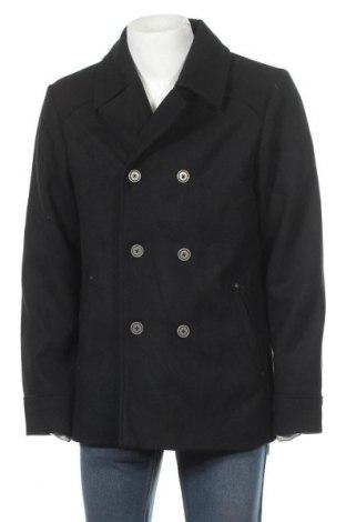 Мъжко палто Dreimaster, Размер XL, Цвят Черен, 58% полиестер, 20% акрил, 16% вълна, 3% вискоза, 3% полиамид, Цена 111,75лв.