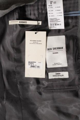 Мъжко сако Ben Sherman, Размер L, Цвят Сив, 95% вълна, 5% мохер, Цена 32,37лв.