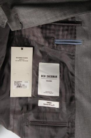Мъжко сако Ben Sherman, Размер M, Цвят Сив, 95% вълна, 5% мохер, Цена 32,37лв.