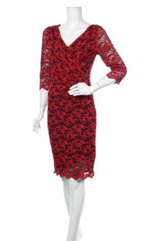Šaty  Gina Bacconi, Velikost S, Barva Červená, 60% polyester, 37% polyamide, 3% elastan, Cena  1126,00Kč