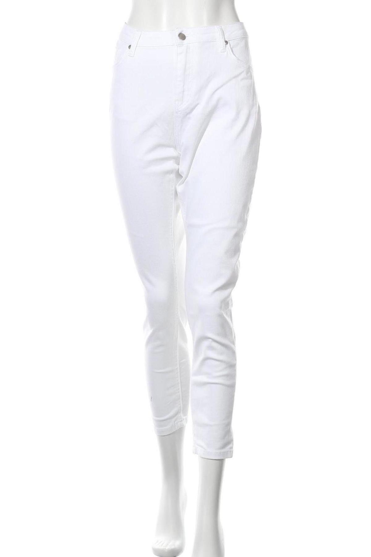 Дамски дънки, Размер XL, Цвят Бял, Цена 14,22лв.
