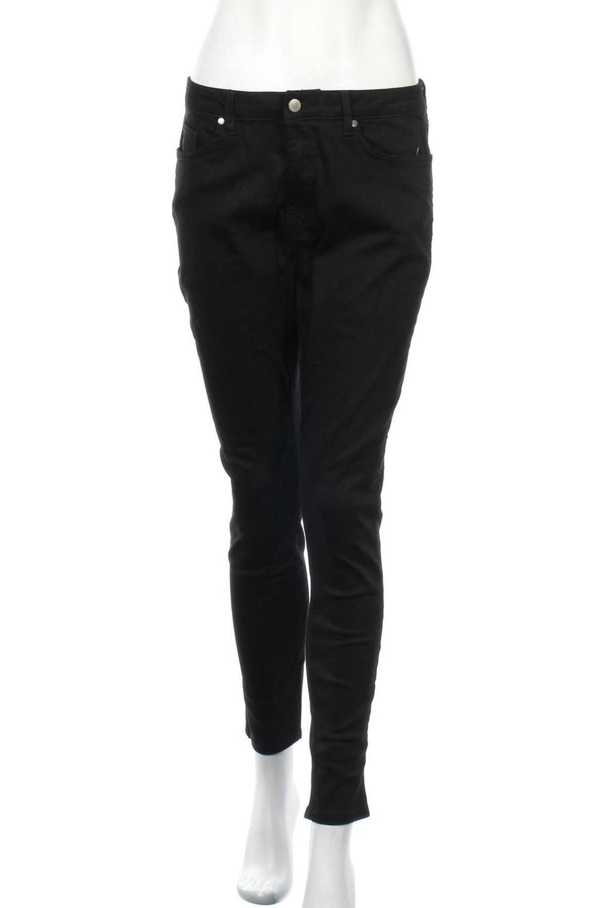 Дамски дънки, Размер L, Цвят Черен, Цена 14,74лв.