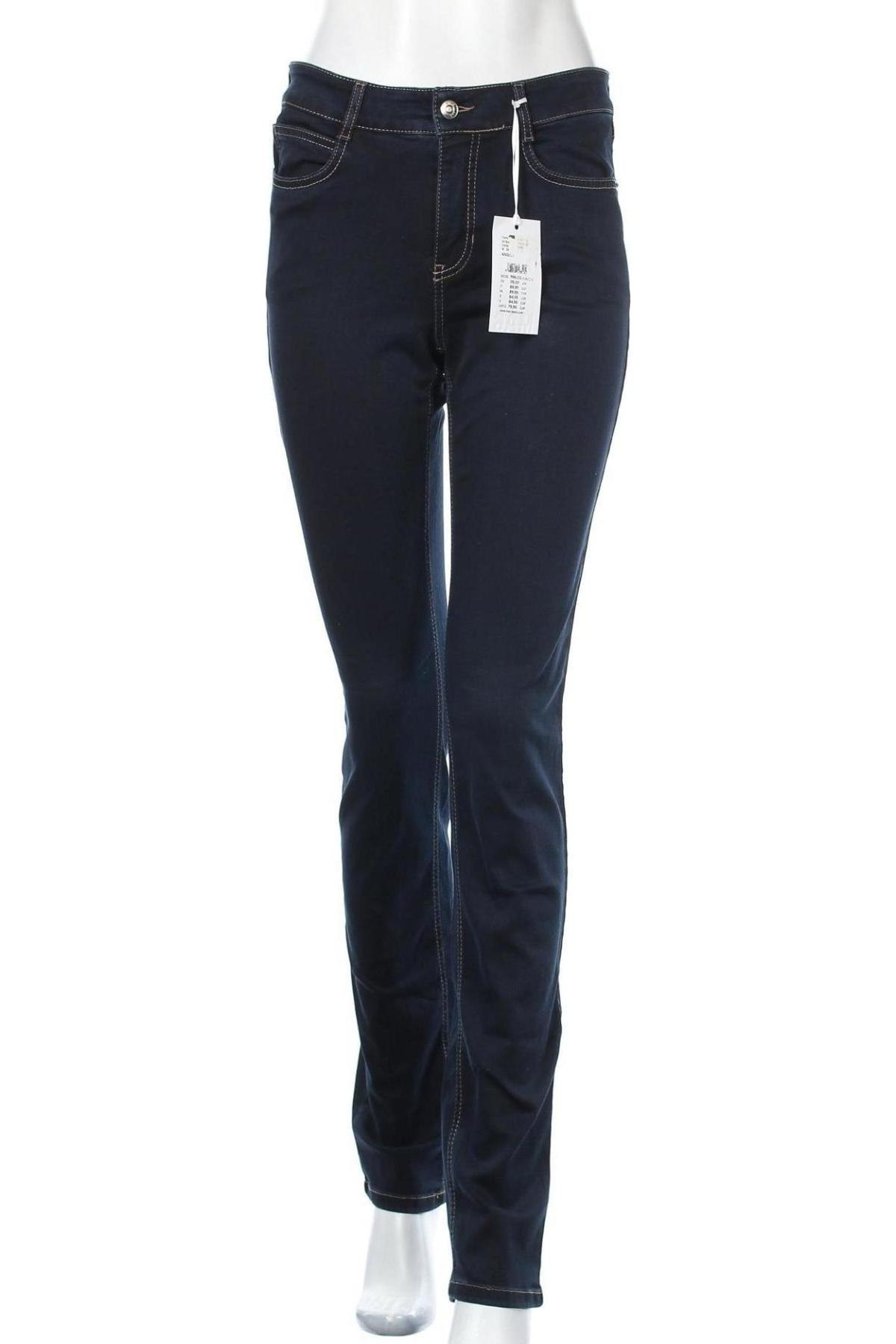 Дамски дънки Mac, Размер S, Цвят Син, 92% памук, 5% полиестер, 3% еластан, Цена 27,37лв.