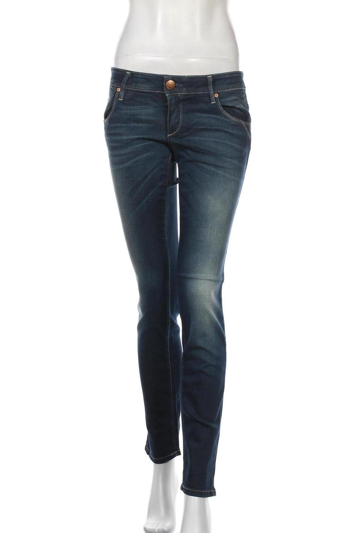 Дамски дънки ONLY, Размер M, Цвят Син, 98% памук, 2% еластан, Цена 15,27лв.