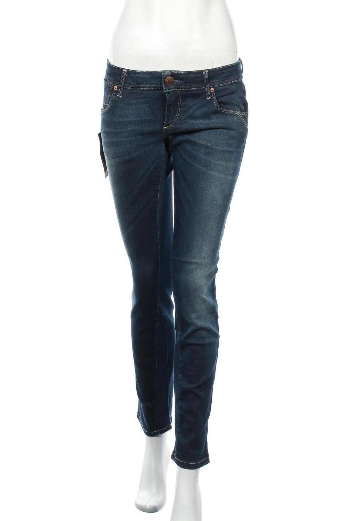 Дамски дънки ONLY, Размер M, Цвят Син, 98% памук, 2% еластан, Цена 25,74лв.