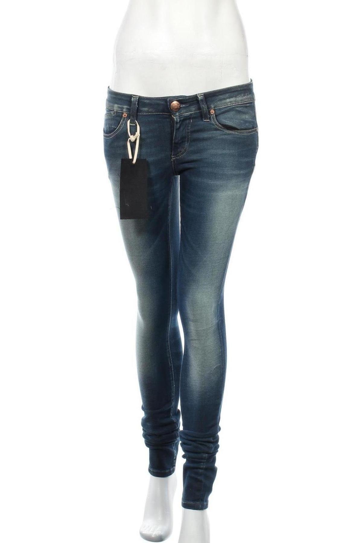 Дамски дънки ONLY, Размер M, Цвят Син, 98% памук, 2% еластан, Цена 14,38лв.