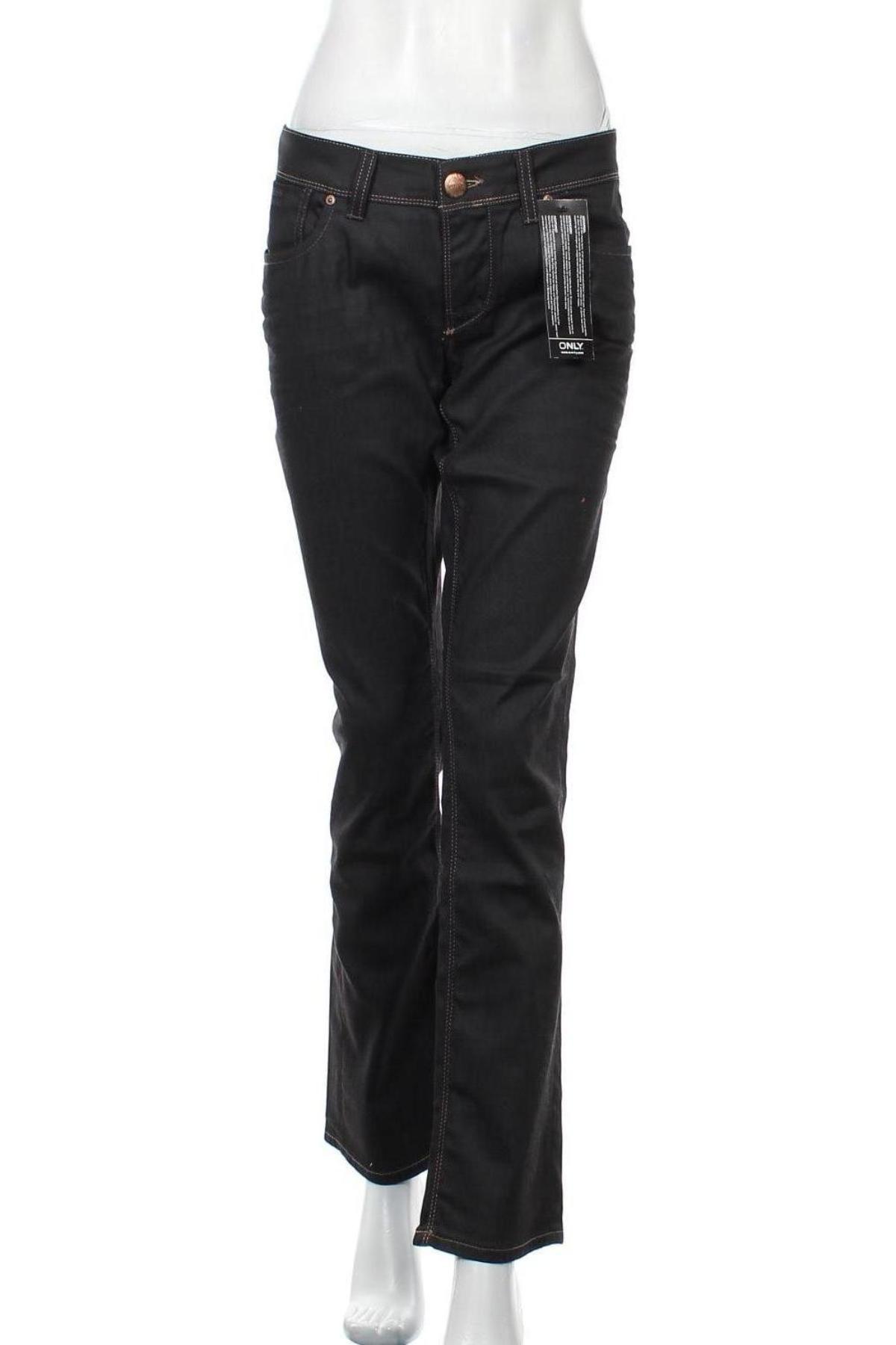 Дамски дънки ONLY, Размер XL, Цвят Черен, 98% памук, 2% еластан, Цена 16,29лв.