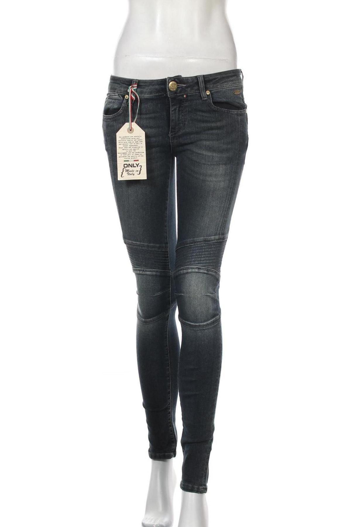 Дамски дънки Only Jeans, Размер M, Цвят Син, Цена 13,35лв.