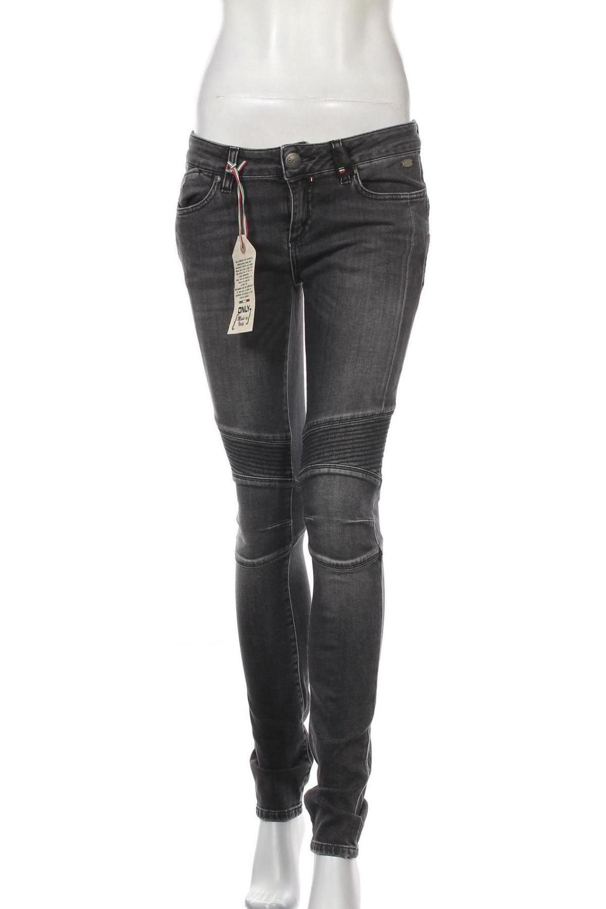 Дамски дънки Only Jeans, Размер M, Цвят Сив, Цена 26,86лв.