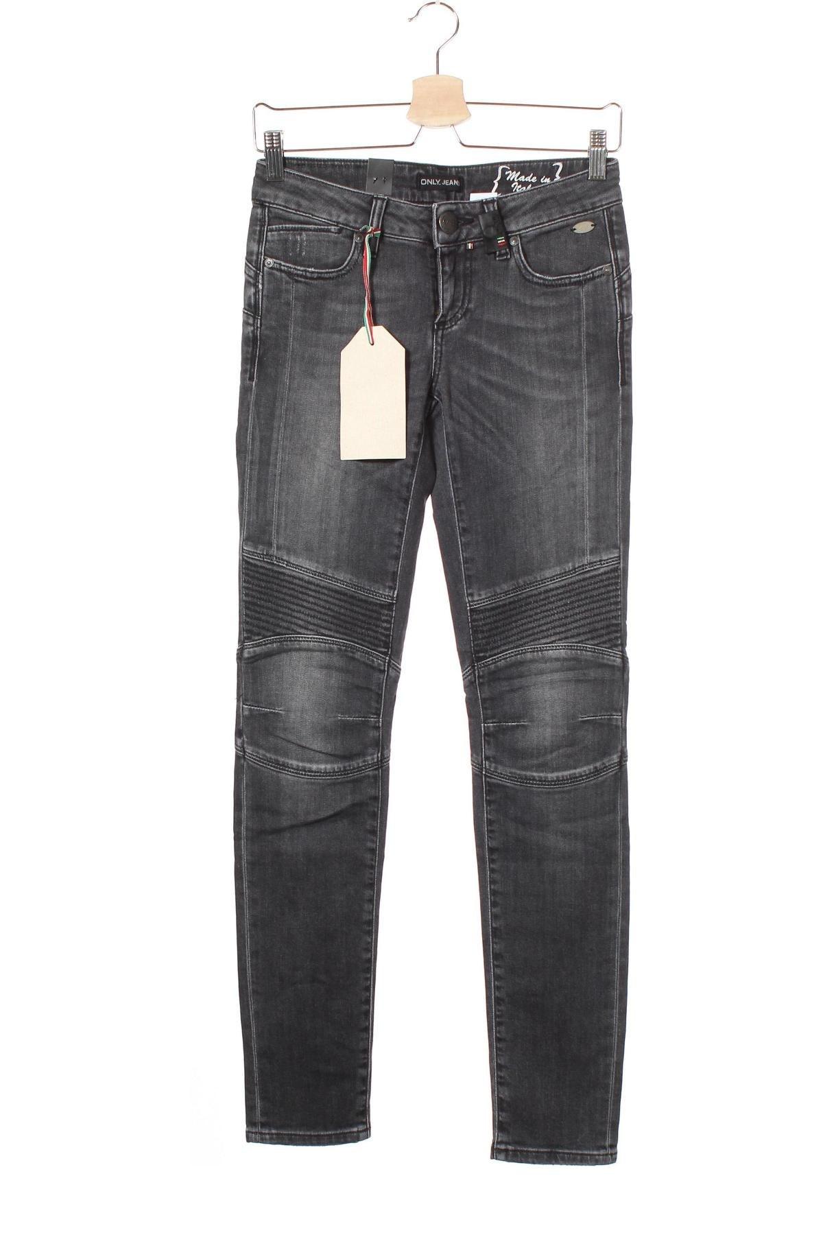 Дамски дънки Only Jeans, Размер S, Цвят Сив, Цена 15,21лв.