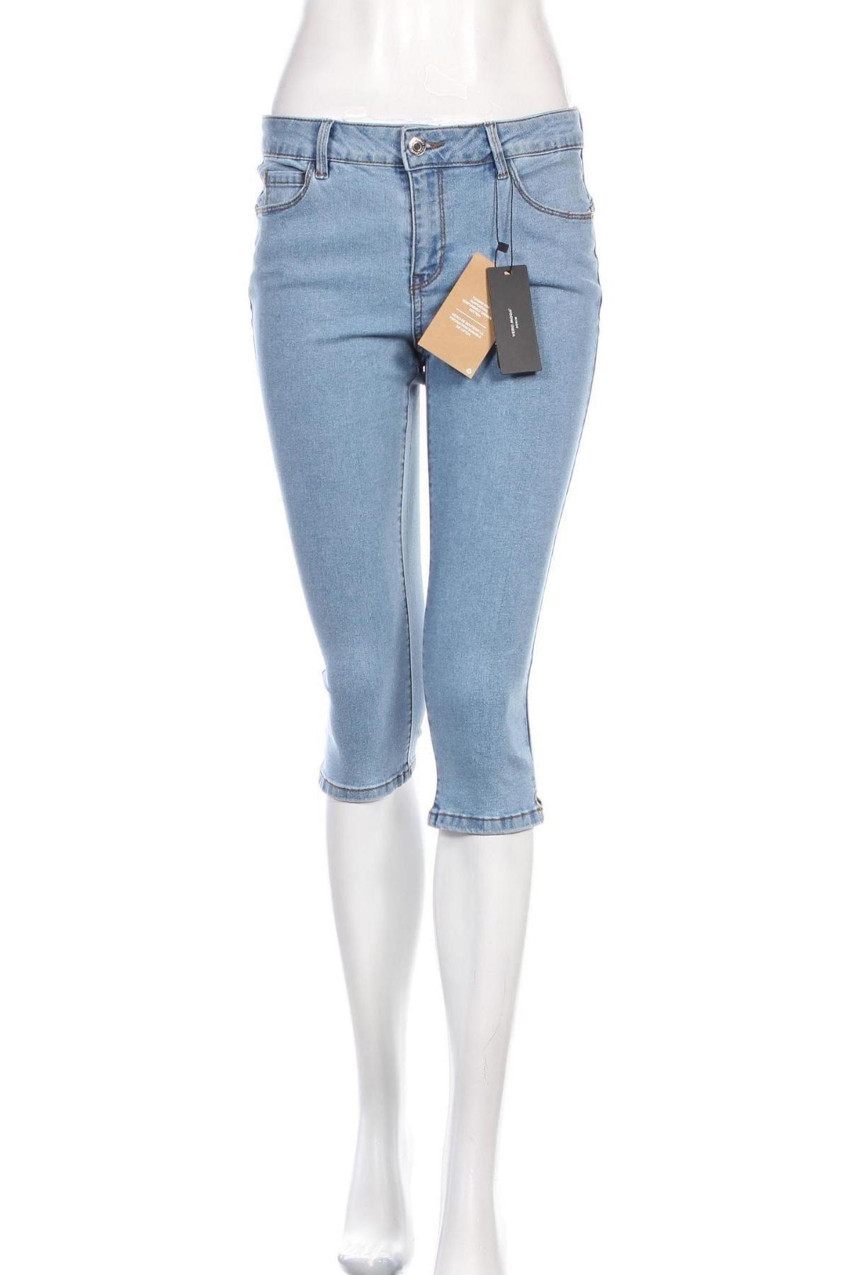 Дамски дънки Vero Moda, Размер M, Цвят Син, 72% памук, 26% полиестер, 2% еластан, Цена 18,88лв.