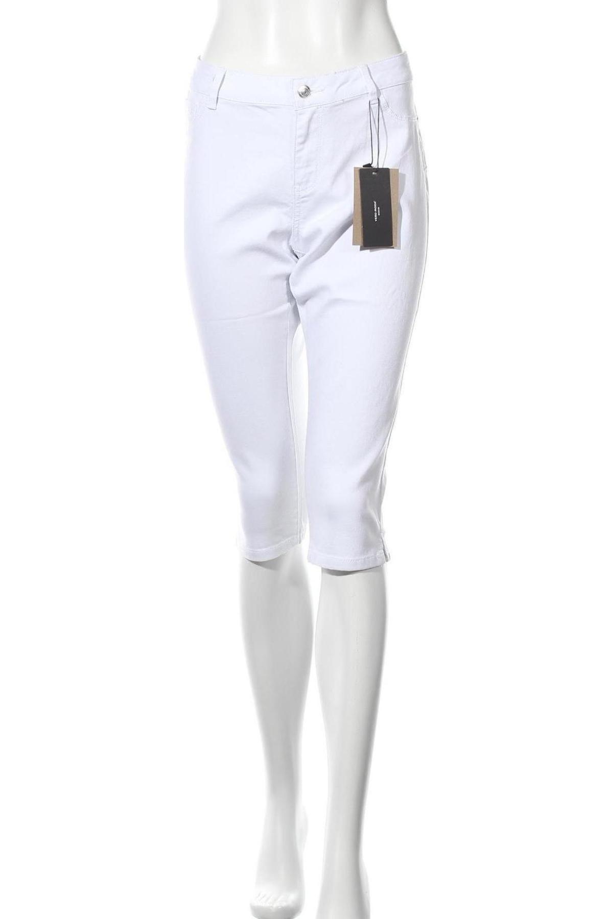 Дамски дънки Vero Moda, Размер L, Цвят Бял, 63% памук, 35% полиестер, 2% еластан, Цена 19,76лв.